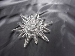 Contemporary Crystal 12 Alternating Points Star Candle Holder Clear 5 3 8quot; D $9.50