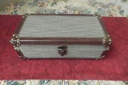 Rare Houdini Wooden Storage Box little chest with faux leather brass decoration $49.00