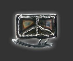 SCOTTY CAMERON  [Gallery]  Rectangle Peace Sign - HAND MADE Belt Buckle
