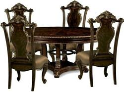 Traditional Brown Wood Dining Room Set 5 pcs Gables A.R.T.