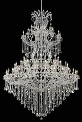 Palace Maria Theresa 85 Light Foyer Crystal Chandelier Light Chrome 72x96 $11,095.00