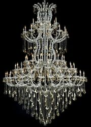 Palace Maria Theresa 85 Light Golden Teak Crystal Chandelier Light Chrome 72x96 $12,695.00