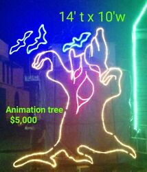 HUGE COMMERCIAL HALLOWEEN LIGHT SCULPTURE DISPLAYCHRISTMASAMUSEMENTDECORATION $5,000.00