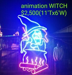 HUGE WITCH COMMERCIAL HALLOWEEN LIGHT SCULPTURE DISPLAYCHRISTMASDECORATION $2,500.00