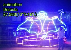 HUGE COMMERCIAL DRACULA HALLOWEEN LIGHT SCULPTURE DISPLAYCHRISTMASDECORATION $7,500.00