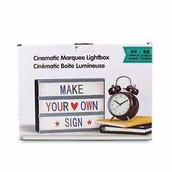 SPLASH CINEMATIC MARQUEE LIGHTBOX MAKE YOUR OWN SIGN MULTI COLOR 88 Letters $7.99