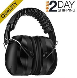 Ear Protection For Shooting Noises Hearing Muffler Black Safety Muffs Earmuffs