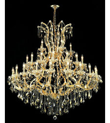 Palace Maria Theresa 41 Light Golden Teak Crystal Chandeliers light Gold 52x54 $4,395.00