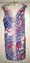 Lilly Pulitzer Janice Shift Dress She She Shells Starfish Size 4 Holy Grail EUC