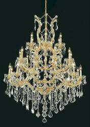 Palace Maria Theresa 28 Light Crystal Chandelier Gold 38x52  $2,450.00