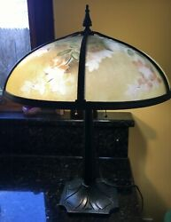 Bradley and Hubbard reverse painted lamp $470.51