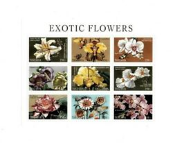 Tanzania 1998 Exotic Flowers Sheet of 9 Stamps MNH $5.76