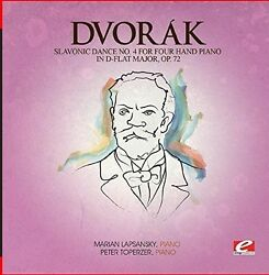 Dvorak - Slavonic Dance 4 Four Hand Piano D-Flat Maj 72 [New CD] Manufactured On