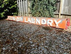 HUGE Vintage Circa 1950 Coin Op Laundry 12' Neon Sign Decor Man Cave She Shed