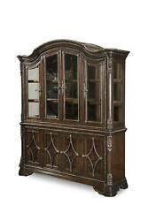 Traditional Brown Wood China Cabinet Gables A.R.T.