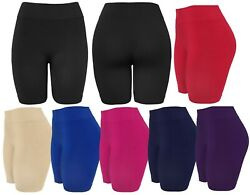 Women's Slip Shorts Seamless Layering Biker Bermuda Shorts $9.99