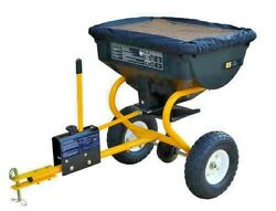 85 lb Tow Behind Broadcast Spreader ATV Tractor Fertilizer Grass Seed Ice Melt $145.99