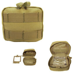 MOLLE PALS 4 X 4 Utility Pouch Multi-Function Utility Tool Bag - TAN $14.77