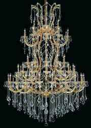 Palace Maria Theresa 61 Light Foyer Crystal Chandelier Light Gold  54x72 $6,225.00