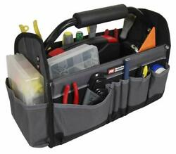 Open Top Electricians Tool Bag Stiff Frame Tote Tool Box Utility Tool Workshop