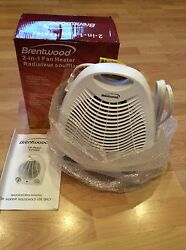 New Brentwood Portable Compact Space Heater Fan White & Cool Or Warm Air 2 IN 1 $18.99