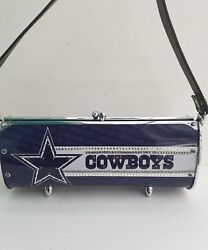 Dallas Cowboys women's metal license plate purse with skorski crystals