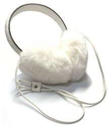 Authentic GUCCI Ear muffler GG Lapin rabbit fur 245929 White earmuffs $355.00