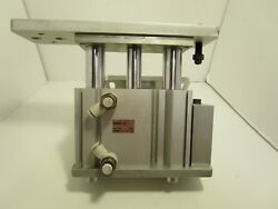 SMC MGQM50-50 Pneumatic Compact Guide Cylinder with machined aluminum mount $125.00