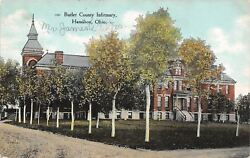 Hamilton Ohio~Butler County Infirmary~Poorhouse~Dirt Road~1910 Postcard