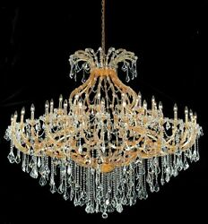Palace Maria Theresa  49 light Crystal Chandelier light gold 72