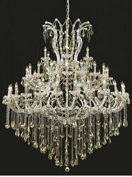 Palace Maria Theresa 49 Light Golden Teak Crystal Chandelier light Chrom 60x72