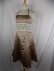 WTOO by WATTERS Bridal Gown Wedding Formal Dress Beige Lace Size 8  $84.00