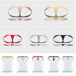 Metal Dust Guard Protective Sticker Shell Skin Decal for Apple Airpods Earphone