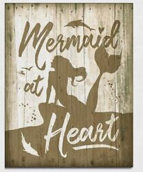 Mermaid at heart Metal tin sign beach house home bar Wall ocean decor new