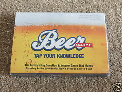 NEW Still Sealed Beer Smarts Tap Your Knowledge novelty Qamp;A trivia bar game $6.99
