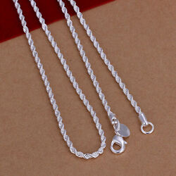 1pc Solid Sterling-Silver Classic Necklace Chain For Pendant Jewelry  DWB