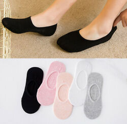 Womens Socks Low Cut No Show Lot 5 Pairs Cotton Pack Soft Thin Girl Lady Loafer $7.99