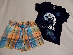 NWT 5 5T GYMBOREE TROPICAL BLOOM TOP & SHORTS