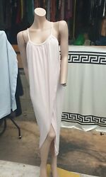 Catch One London wrap over long summer dress light pink size SM $16.25