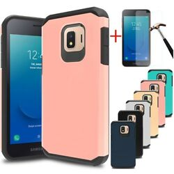 For Samsung Galaxy J2 2019CorePureDash Shockproof Armor Case+Tempered Glass