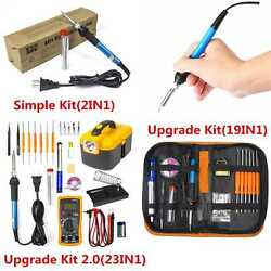 Electric Soldering Iron Gun Tool Kit 110V 60W Welding Desoldering Pump Tool Set $34.98
