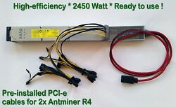 Lot of 7 Power Supply for Two (x2) Antminer up to 2450 watt PCI-e Wiring