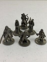 Lord of The Rings Monopoly 6 Pewter Metal Figure Replacement Pieces Parts