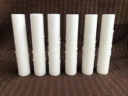 *** 5quot; VINTAGE WHITE BEESWAX CANDLES CHANDELIER SOCKET COVERS SET OF 6 *** $39.99