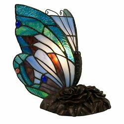 Tiffany Style Butterfly Table Desk Lamp Stained Glass LED Bulb Lighted Artwork $39.99