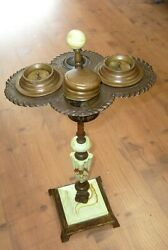 Antique Ornate  Art Deco Smoker ash tray Stand 1930's ?  - Pittsburgh Pa.