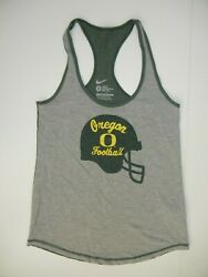 Nike OREGON DUCKS Football Helmet COLLEGE TANK TOP SHIRT Gym Sz Ladies Women SM