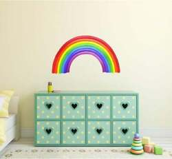Rainbow Wall Decal Watercolor Rainbow Wall Sticker Removable Fabric Kids Decor $24.99