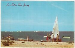 Lavallette NJ Boat Races on bay beach & sail boats
