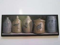 Pottery amp; Vintage Churn Farmhouse Style Country Kitchen wall decor plaque sign $33.97